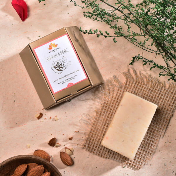 Ayurveda Inspired Herbal Vegan Almond Rose Soap