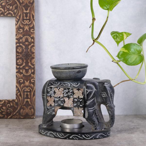 Elephant design Oil Burner Handmade