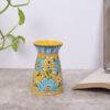 Handmade Blue Pottery Oil Burner, Yellow