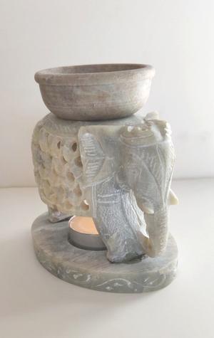Elephant design Oil Burner with bowl
