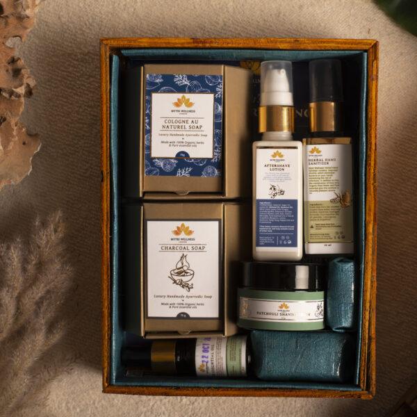 Men's Luxury Ayurvedic Soap and Grooming Skincare Gift Hamper