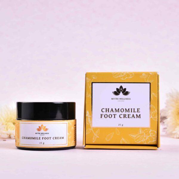 Chamomile Foot Cream Ayurvedic Herbal Vegan Product