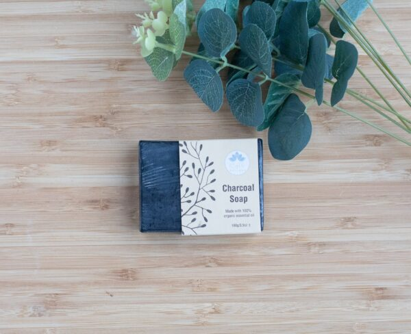 Bamboo Charcoal soap, vegan-friendly, with activated bamboo charcoal powder